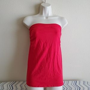 Bebe Red Tube Top Size M/L